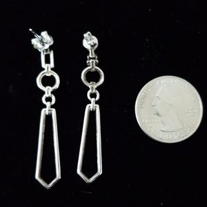 no brand Jewelry - Sterling silver and diamond earrings